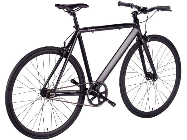 6KU Fixed Gear Track Bike Black -626