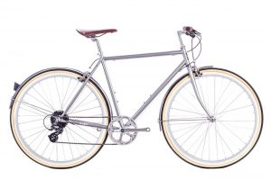 6KU Odyssey City Bike 8 Speed Brandford Silver