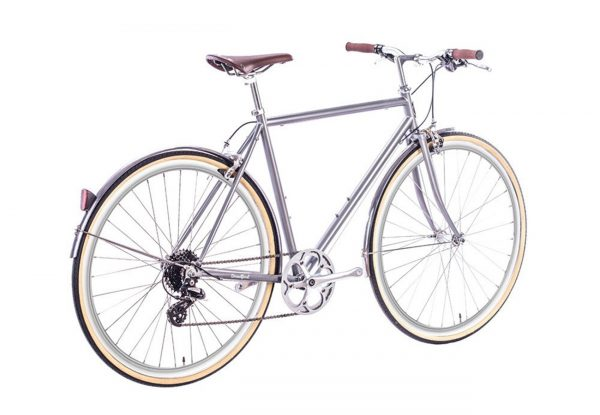 6KU Odyssey City Bike 8 Speed Brandford Silver-435