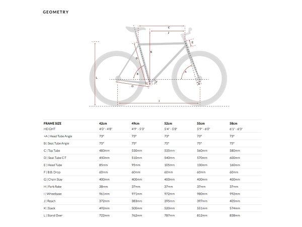 6KU Fixed Gear Bike - Shelby 4-624