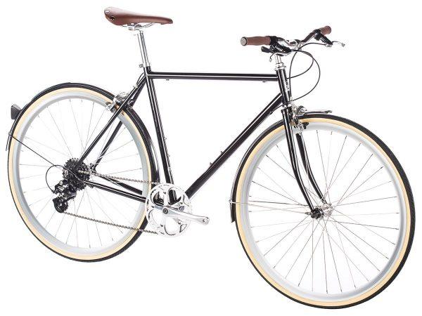 6KU Odyssey City Bike 8 Speed Delano Black-437