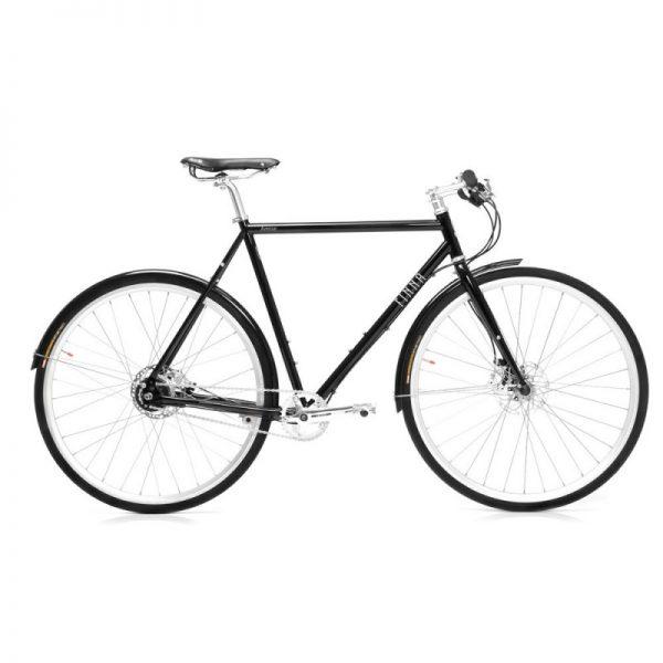 Finna Cycles Avenue City Bike 8 Speed Dark Black