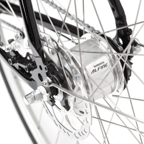 Finna Cycles Avenue City Bike 8 Speed Dark Black-2926