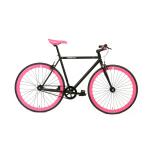 FabricBike Fixie Fiets – Mat Zwart / Roze-0