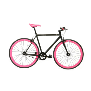 FabricBike Fixie Fiets - Mat Zwart / Roze-0