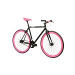 FabricBike Fixed Gear Bike – Matt Black / Pink-2863