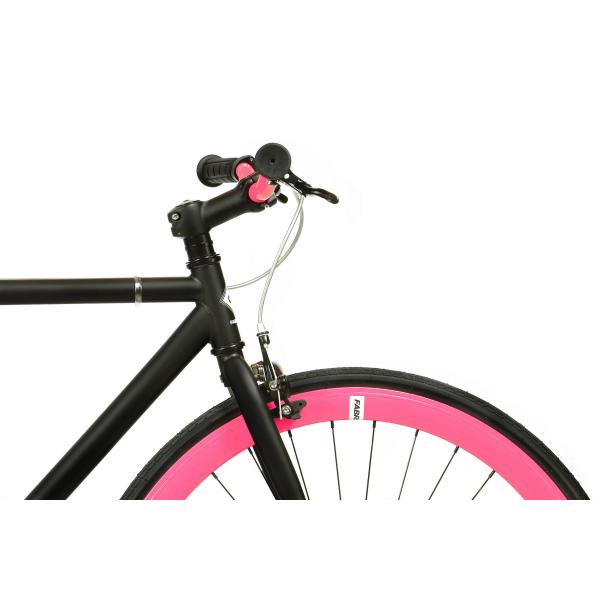 FabricBike Fixed Gear Bike - Matt Black / Pink-2864