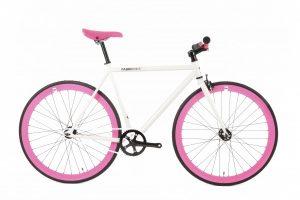 FabricBike Fixie Fiets - Wit / Roze-0