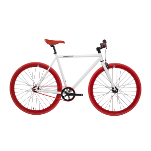 FabricBike Fixie Fiets - Wit / Rood-0
