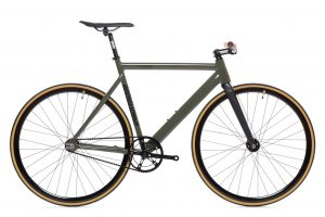 State Bicycle Co Fixie Fiets Black Label v2 - Army Groen-0
