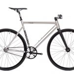 State Bicycle Co Fixie Fiets Black Label v2 - Raw Aluminum-0