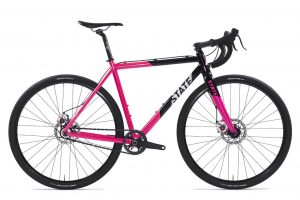 State Bicycle Co Thunderbird Singlespeed Cyclocross Fiets Roze-0