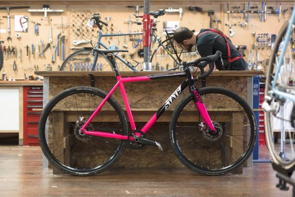 State Bicycle Co Thunderbird Singlespeed Cyclocross Bicycle Pink-6206