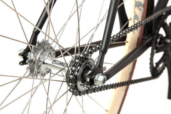Quella Fixed Gear Bike Nero - Cappuccino-7015