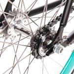 Quella Fixed Gear Bike Nero – Turquoise-7027