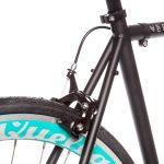 Quella Fixed Gear Bike Nero – Turquoise-7028