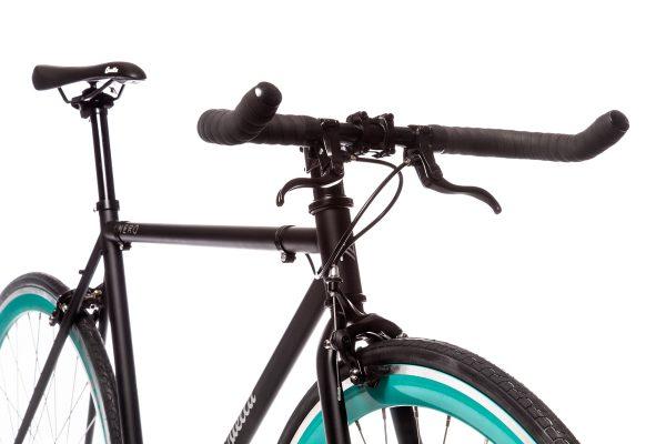 Quella Fixed Gear Bike Nero - Turquoise-7029