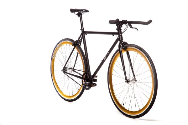 Quella Fixed Gear Bike Nero - Gold-6966