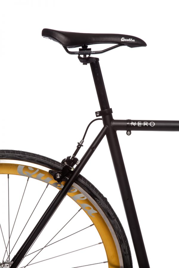 Quella Fixed Gear Bike Nero - Gold-6968