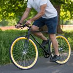 Quella Fixed Gear Bike Nero – Gold-6971