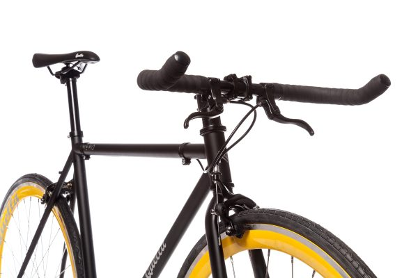 Quella Fixed Gear Bike Nero - Yellow-7002