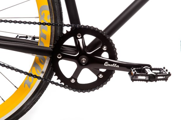 Quella Fixed Gear Bike Nero - Yellow-7004