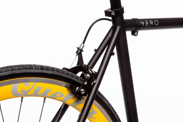Quella Fixed Gear Bike Nero - Yellow-7006