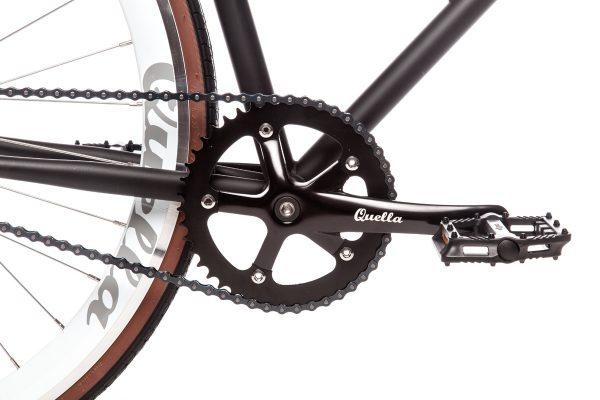 Quella Fixed Gear Bike Nero - White-6977