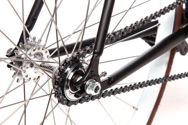 Quella Fixed Gear Bike Nero - White-6980