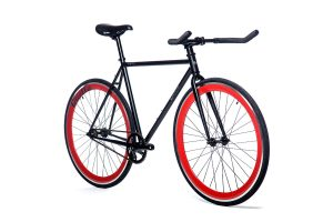 Quella Fixed Gear Bike Nero - Red-7018