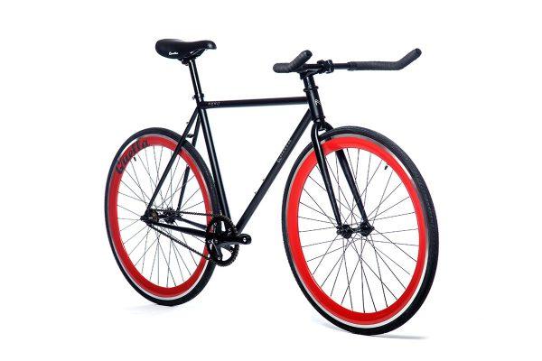 Quella Fixed Gear Bike Nero - Red-7018