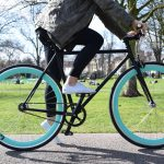Quella Fixed Gear Bike Nero – Turquoise-7031