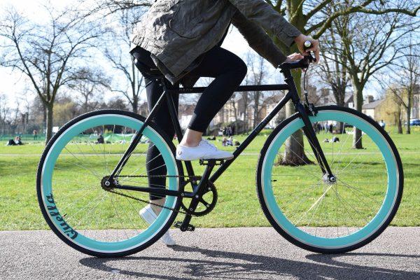 Quella Fixed Gear Bike Nero - Turquoise-7031