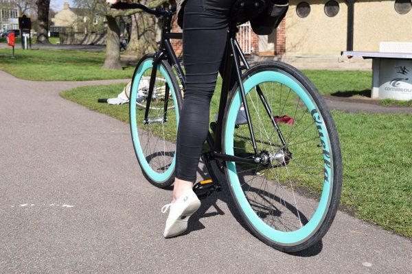 Quella Fixed Gear Bike Nero - Turquoise-7030
