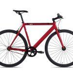 6KU Fixie Fiets Track Burgundy Rood-0